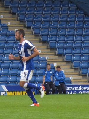 Captain (association football) - Chesterfield vice-captain Sam Hird wearing the armband