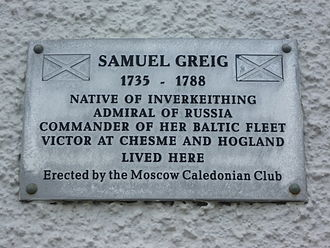 Samuel Greig - Birthplace plaque