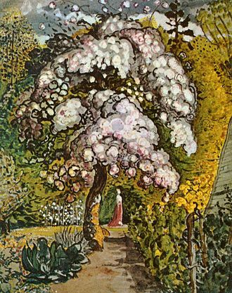 Samuel Palmer - In a Shoreham Garden. 1820s or early 1830s