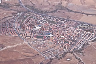 San Agustín del Guadalix - Aerial view of the town