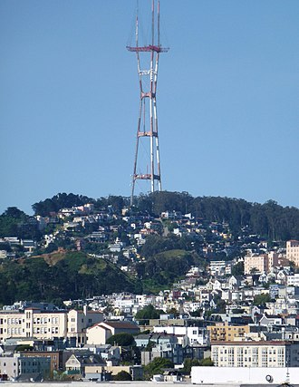 Kline Iron and Steel - Image: San Francisco Sutro Tower from Grandview Park (2)