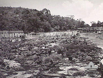 Sandakan - Sandakan was heavily damaged by bombing from Allied forces at the end of the war. The bombing was intended to flush out the Japanese who occupied the town during this period. The heavy damage to the town eventually led to the British moving the capital of British North Borneo to Jesselton.