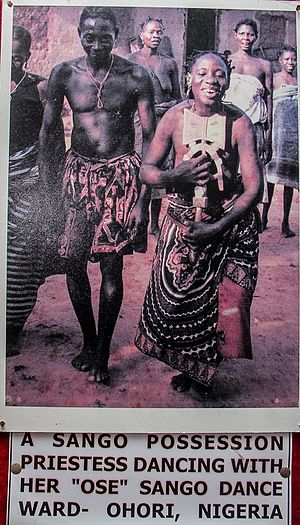 Culture of Nigeria - Image: Sango priestress