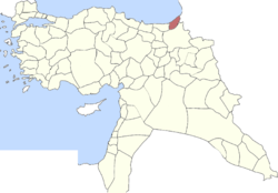 Location of Sanjak of Lazistan