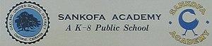 Bushrod Park, Oakland, California - Sankofa Academy logo