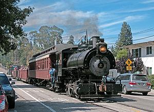Santa Cruz, Big Trees and Pacific Railway - Image: Santa Cruz Portland Cement 0 4 0 on Chestnut St
