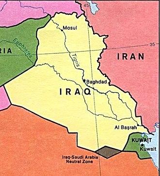 Saudi Arabian–Iraqi neutral zone - The former Neutral Zone between Iraq and Saudi Arabia