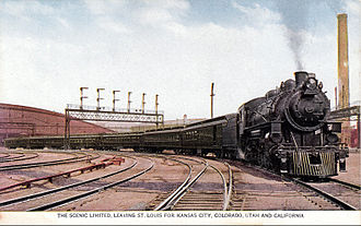 Missouri Pacific Railroad - The Scenic Limited leaving St. Louis.