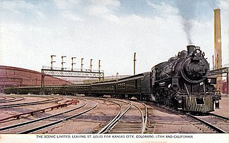 The Scenic Limited leaving St. Louis Scenic Limited Missouri Pacific Railroad.JPG