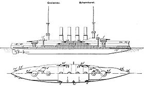 Image illustrative de l'article Classe Scharnhorst (croiseur)