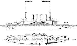 SMS Scharnhorst - Image: Scharnhorst class Brassey's