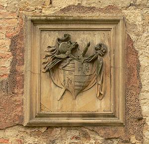 August Ferdinand von Veltheim - Family crest of von Veltheim on wall of Harbke Castle
