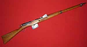 Schmidt–Rubin - Schmidt–Rubin Model 1889 rifle chambered for the GP90 7.5×53.5mm cartridge.