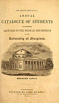 School of Medicine Catalog 1837-80 (1837) (14578327660).jpg