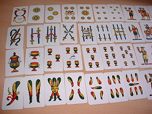 "Briscola - A set of ""Neapolitan"" cards by Modiano."