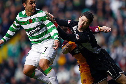 Scott McDonald lors d'un match face à Motherwell en 2008