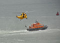 Sea King and Plymouth lifeboat, Plymouth Airshow 2010 2.jpg