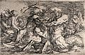 Sea monsters fighting. Etching by S. Rosa. Wellcome V0036043.jpg