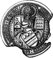 Seal WalterHungerford 1stBaronHungerford KG Died1449.png