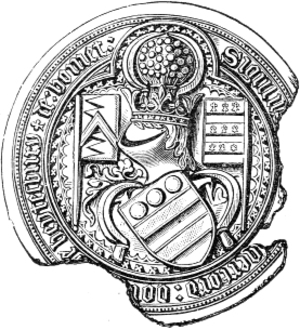 Walter Hungerford, 1st Baron Hungerford - Image: Seal Walter Hungerford 1st Baron Hungerford KG Died 1449