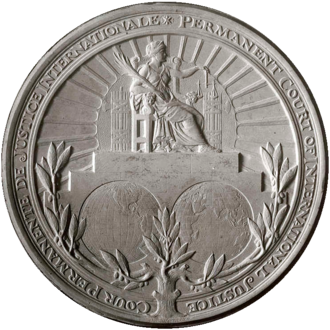 Permanent Court of International Justice - Image: Seal of the Permanent Court of International Justice