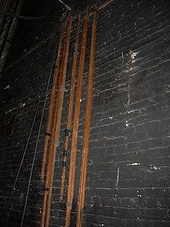Brace (theatre) stabilizing element in stagecraft