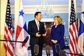 Secretary Clinton Speaks With Panamanian Vice President and Foreign Minister Varela (5436665008).jpg