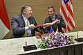 Secretary Michael R. Pompeo holds MOU with Singaporean FM Balakrishnan (28898180677).jpg
