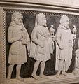 Seguace dei bertini, sepolcro di raimondo del balzo, 1375 ca. 02 falconieri.JPG