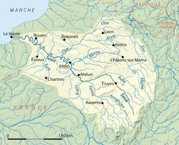 Seines løb og afløbsområde