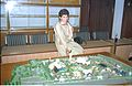Selja Inspecting Science City Model - Science City Site Office - Calcutta 1994-02-17 175.JPG