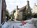 Shaftesbury, icy Tout Hill closed to traffic - geograph.org.uk - 1153076.jpg