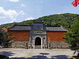 Gaoming Temple building in Tiantai County, China