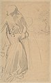 Sheet of Studies with Female Figure Kneeling and Embracing Standing Figure MET DP804226.jpg
