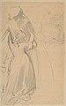 Sheet of Studies with Female Figure Kneeling and Embracing Standing Figure MET DP804226.jpg