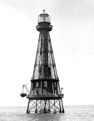 Ship Shoal Light - Undated photograph of Ship Shoal Light (USCG)