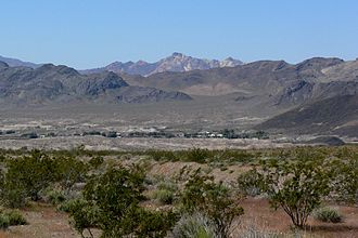 Shoshone, California - View of Shoshone from the east