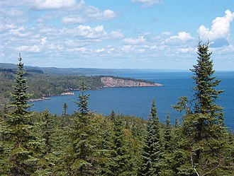 Boreal forest near Shovel Point in Tettegouche State Park, along the northern shore of Lake Superior in Minnesota. Shovel Point1.jpg