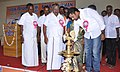 Shri A. Ganesh Kumar, MLA, Gingee, lighting the lamp to inaugurate the Bharat Nirman Public Information Campaign, at Gingee in Villupuram District, Tamil Nadu. The Chairman Town Panchayat, Shri. K.S. Masthan is also seen.jpg