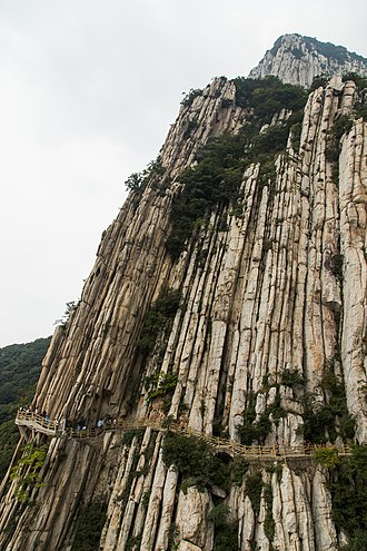 Mount Song - Shuce Cliff, a landmark of Mount Song