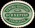 Siegelmarke Gemeinde-Vorstehung Schnepfau - Vorarlberg W0261314.jpg