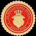 Siegelmarke Gr. Statistisches Bureau - Karlsruhe W0227199.jpg