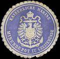 Siegelmarke K. Marine Minendepot zu Geestemünde W0351970.jpg