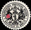 Siegelmarke Maerkisches Provinzial Museum - Magistrat zu Berlin W0224527.jpg