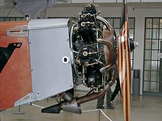 Rogožarski SIM-VIII - Siemens Sh 14 engine installed in aircraft SIM-VIII