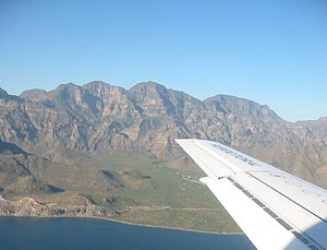 Sierra de la Giganta - Eastern face, seen from the Gulf of California