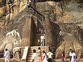 Sigiriya 'lion paws' (7567477194).jpg