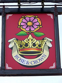 Sign for the Rose and Crown - geograph.org.uk - 1567186