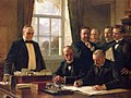 Signing of the Peace Protocol Between Spain and the United States, August 12, 1898, (1899), by Theobald Chartran.jpg