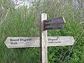 Signpost for the Round Dingwall Walk - geograph.org.uk - 184019.jpg
